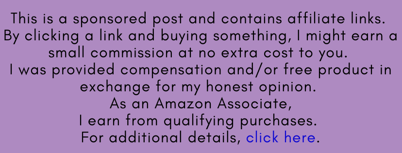 This is a sponsored post and contains affiliate links. By clicking a link and buying something, I might earn a small commission at no extra cost to you. I was provided compensation and/or free product in exchange for my honest opinion. As an Amazon Associate, I earn from qualifying purchases. For additional details, click here