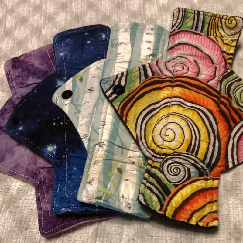 Some pretty prints from my Mamma Cloth Pads of the Heavy Day Flow variety.