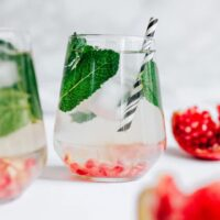 Pomegranate Mint Water (Ready in 5 Minutes)